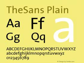 TheSans Plain Altsys Fontographer 4.0.2 07-05-2001图片样张