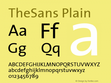 TheSans Plain Altsys Fontographer 4.0.2 07-05-2001图片样张