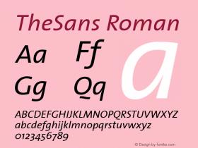 TheSans-Italic Version 1.00图片样张