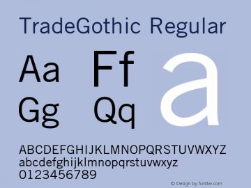 TradeGothic Macromedia Fontographer 4.1 4/20/2000图片样张
