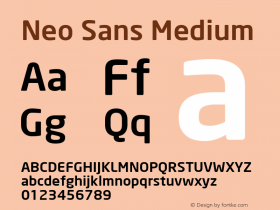 Neo Sans Medium Version 001.000图片样张