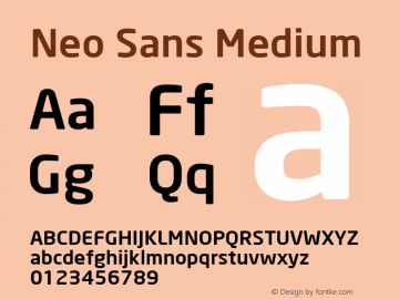 Neo Sans Medium Version 001.000图片样张