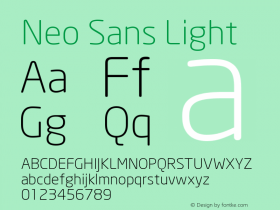Neo Sans Light Version 001.000图片样张