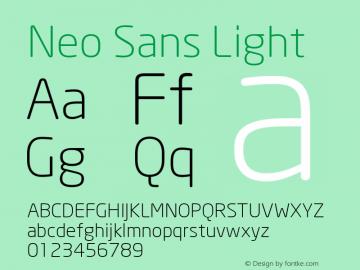 Neo Sans Light Version 001.000图片样张