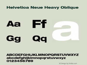 Helvetica 83 Heavy Extended Oblique Version 001.000图片样张