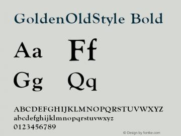 GoldenOldStyle Bold v1.0c图片样张