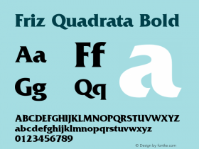 Friz Quadrata Bold Version 001.002图片样张