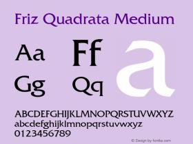 Friz Quadrata Version 001.002图片样张