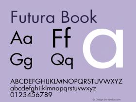 Futura Book Version 001.000图片样张