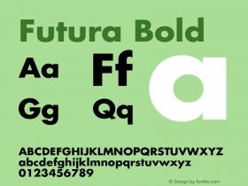 Futura Bold Version 001.001图片样张