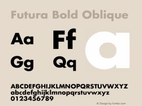 Futura Bold Oblique Version 001.001图片样张