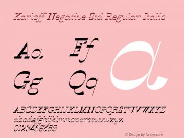 KarloffNegativeStd-RegIta Version 1.0; 2012图片样张