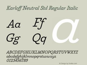 KarloffNeutralStd-RegIta Version 1.0; 2012图片样张