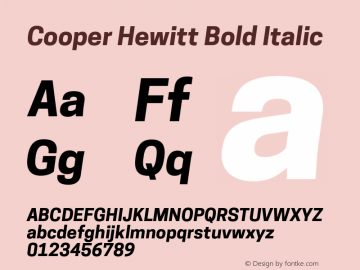 CooperHewitt-BoldItalic 1.000图片样张
