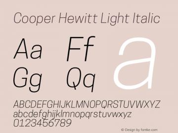 CooperHewitt-LightItalic 1.000图片样张