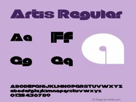 Artis Regular Version 1.000;PS 001.000;hotconv 1.0.88;makeotf.lib2.5.64775图片样张