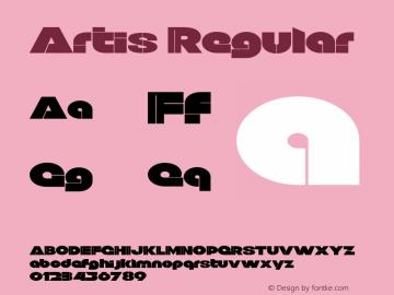 Artis Regular Version 1.000图片样张