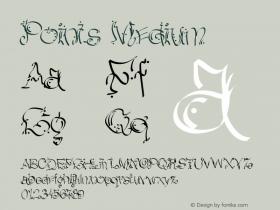 Points Medium Version 001.000 Font Sample