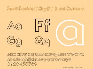 SerifGothicITCbyBT-BoldOutline Version 2.0-1.0图片样张