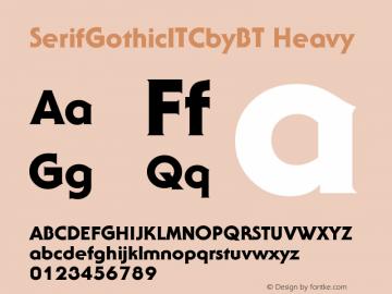 SerifGothicITCbyBT-Heavy Version 2.0-1.0图片样张