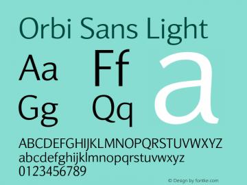 Orbi Sans Light Version 1.000图片样张