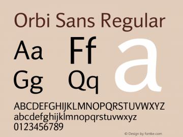 Orbi Sans Version 1.000图片样张