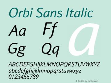 Orbi Sans Italic Version 1.000图片样张