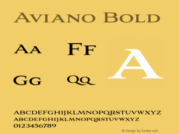 Aviano-Bold 1.000图片样张