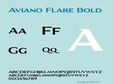 AvianoFlare-Bold 1.000图片样张