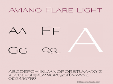 AvianoFlare-Light 1.000图片样张