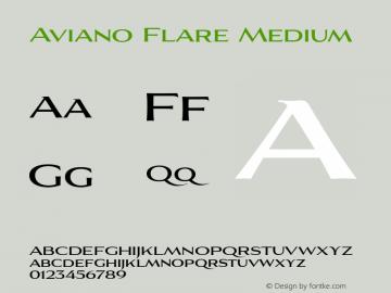 AvianoFlare-Medium 1.000图片样张