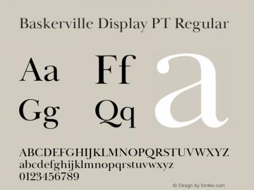 BaskervilleDisplayPT-Regular Version 1.000图片样张