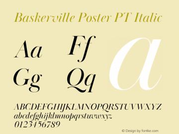 BaskervillePosterPT-Italic Version 1.000图片样张