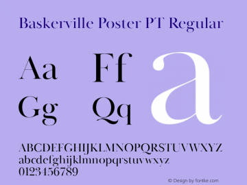 BaskervillePosterPT-Regular Version 1.000图片样张
