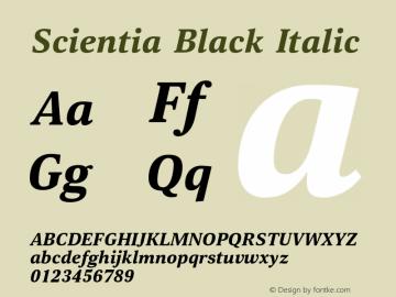 Scientia-BlackItalic Version 1.001图片样张