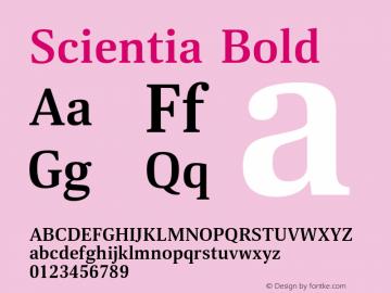 Scientia-Bold Version 1.001图片样张
