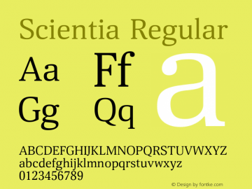 Scientia-Regular Version 1.001图片样张