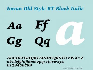 IowanOldStyleBT-BlackItalic Version 1.000 | wf-rip DC20170225图片样张