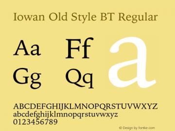 IowanOldStyleBT-Regular Version 1.000 | wf-rip DC20170225图片样张