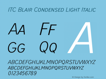 ITCBlair-CondensedLightIt Version 1.81图片样张