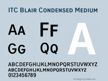 ITCBlair-CondensedMedium Version 1.81图片样张
