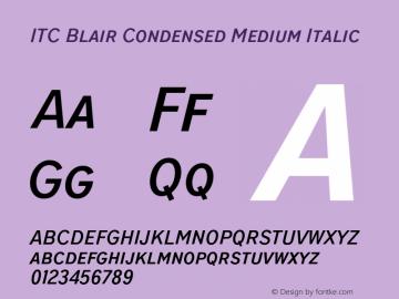 ITCBlair-CondensedMediumIt Version 1.81图片样张