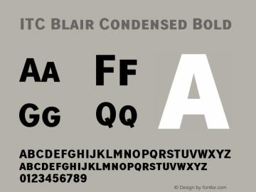 ITCBlair-CondensedBold Version 1.81图片样张