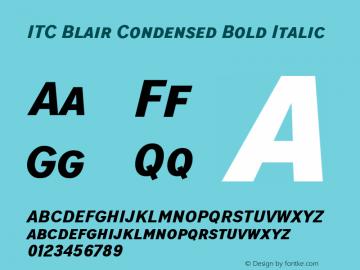 ITCBlair-CondensedBoldIt Version 1.81图片样张