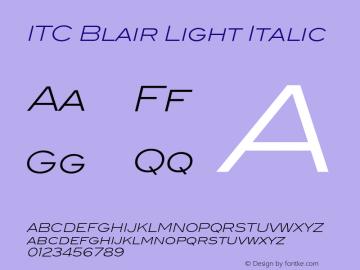 ITCBlair-LightItalic Version 1.81图片样张