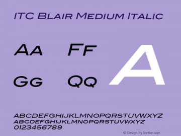 ITCBlair-MediumItalic Version 1.81图片样张