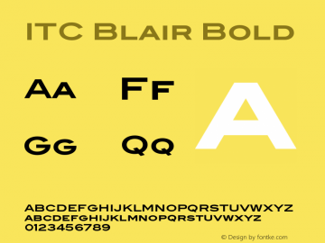 ITCBlair-Bold Version 1.91图片样张