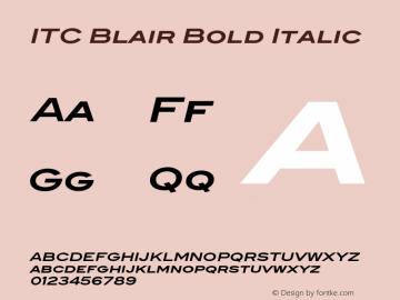 ITCBlair-BoldItalic Version 1.81图片样张