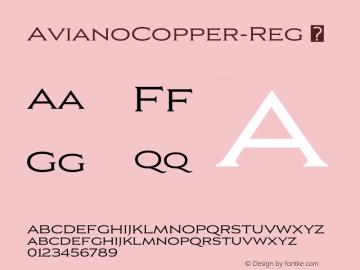 ☞Aviano Copper Regular Version 2.000;com.myfonts.easy.insigne.aviano-copper.regular.wfkit2.version.57nW图片样张