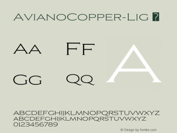 ☞Aviano Copper Light Version 2.000;com.myfonts.easy.insigne.aviano-copper.light.wfkit2.version.57nR图片样张